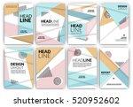flyer template set   usable for ... | Shutterstock .eps vector #520952602
