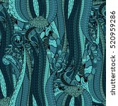 tracery seamless calming... | Shutterstock . vector #520959286
