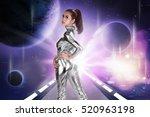 pretty asian woman wearing... | Shutterstock . vector #520963198