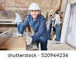 craftsmans team working... | Shutterstock . vector #520964236