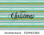 merry christmas vector pattern... | Shutterstock .eps vector #520965382