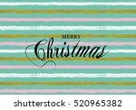 merry christmas vector pattern... | Shutterstock .eps vector #520965382