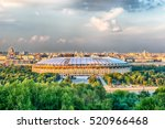 Small photo of Aerial view of Luzhniki Stadium and complex from Sparrow Hills, Moscow, Russia