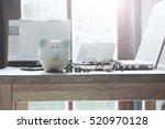 pig piggy bank  coins  bank... | Shutterstock . vector #520970128