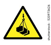 overhead load warning sign. | Shutterstock .eps vector #520973626