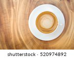 top view of hot coffee... | Shutterstock . vector #520974892