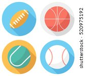 ball icons . flat design style... | Shutterstock .eps vector #520975192