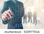 business man writing on office... | Shutterstock . vector #520977016