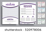 set flyers a4 size with space... | Shutterstock .eps vector #520978006