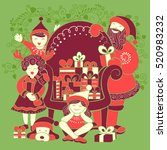 Vector Design Of Santa With...