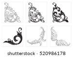 vector set of vintage elements... | Shutterstock .eps vector #520986178