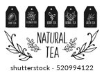 herbal tea tags collection.... | Shutterstock .eps vector #520994122
