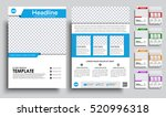 template flyer a4 with space... | Shutterstock .eps vector #520996318
