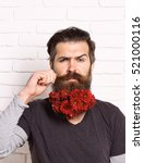 handsome bearded man with... | Shutterstock . vector #521000116