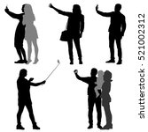 silhouettes man and woman... | Shutterstock .eps vector #521002312