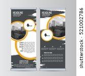 roll up business banner design... | Shutterstock .eps vector #521002786