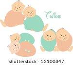 doodle twins | Shutterstock .eps vector #52100347