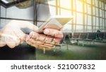 double exposure of hand hold... | Shutterstock . vector #521007832