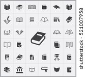 book icon. books icons... | Shutterstock .eps vector #521007958
