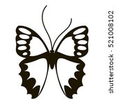 nice butterfly icon. simple... | Shutterstock . vector #521008102