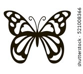 spotted butterfly icon. simple... | Shutterstock . vector #521008366