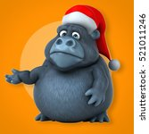 fun gorilla   3d illustration | Shutterstock . vector #521011246