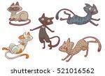 vector set of cartoon images of ... | Shutterstock .eps vector #521016562