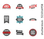 price down icons set. cartoon... | Shutterstock . vector #521016958