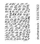 abc letters vector set | Shutterstock .eps vector #521017822
