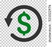 chargeback icon. vector... | Shutterstock .eps vector #521022976