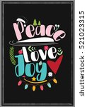 christmas quote. christmas... | Shutterstock .eps vector #521023315
