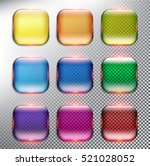 abstract vector web buttons set ... | Shutterstock .eps vector #521028052