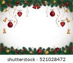 christmas background with fir...   Shutterstock .eps vector #521028472
