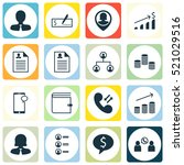 set of 16 hr icons. includes... | Shutterstock .eps vector #521029516