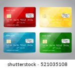 realistic detailed credit cards ... | Shutterstock .eps vector #521035108