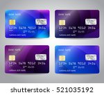 realistic detailed credit cards ... | Shutterstock .eps vector #521035192