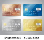realistic detailed credit cards ... | Shutterstock .eps vector #521035255