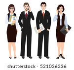 group of business people in... | Shutterstock .eps vector #521036236