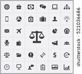 scales icon. business icons... | Shutterstock .eps vector #521036686