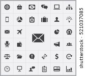 email icon. business icons...   Shutterstock .eps vector #521037085