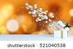 3d rendering  gift box on white ... | Shutterstock . vector #521040538