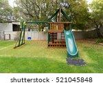 view of kids playground in... | Shutterstock . vector #521045848