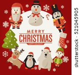 christmas greeting card design  ... | Shutterstock .eps vector #521045905
