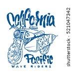 motorcycle surfboard... | Shutterstock .eps vector #521047342