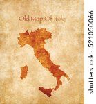 old style map of italy isolated ... | Shutterstock . vector #521050066