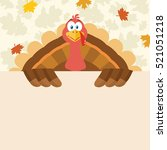 happy thanksgiving turkey bird... | Shutterstock .eps vector #521051218