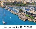 barceloneta cruise port and... | Shutterstock . vector #521055202