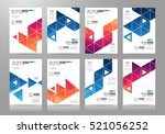 set of brochure templates ... | Shutterstock . vector #521056252