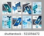 set of brochure templates ... | Shutterstock . vector #521056672