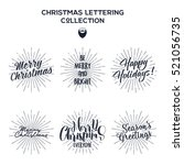 set of christmas   new year... | Shutterstock . vector #521056735